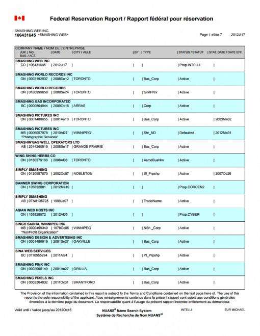 Federal Business Registration