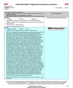 NUANS Trademark Report