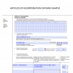Articles of Incorporation Ontario sample