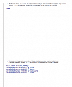 Articles of Incorporation Sample page 2