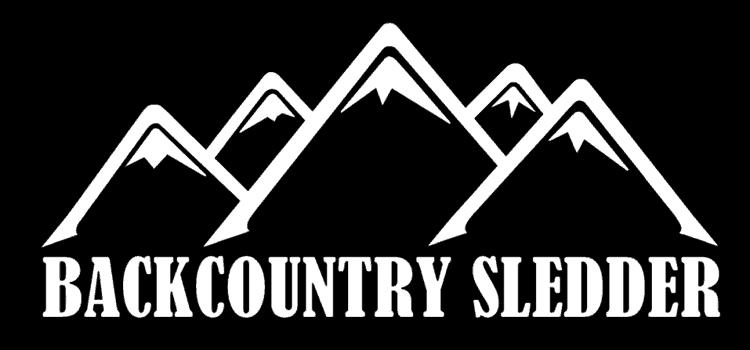 Backcountry Sledder design trademark with 5 mountain peaks